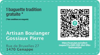 1470 - QR -  Artisan Boulanger Gossiaux Pierre-1